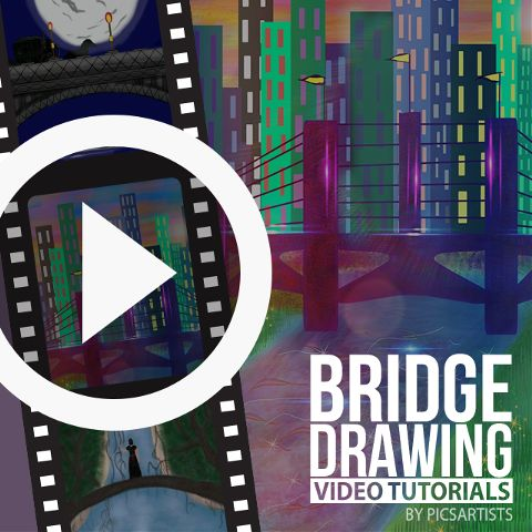 bridge drawing time lapse video