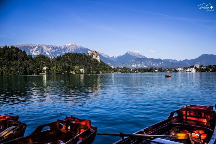 #Slovenia #lake #boat #sky  #nature  #travel  #photography  #summer