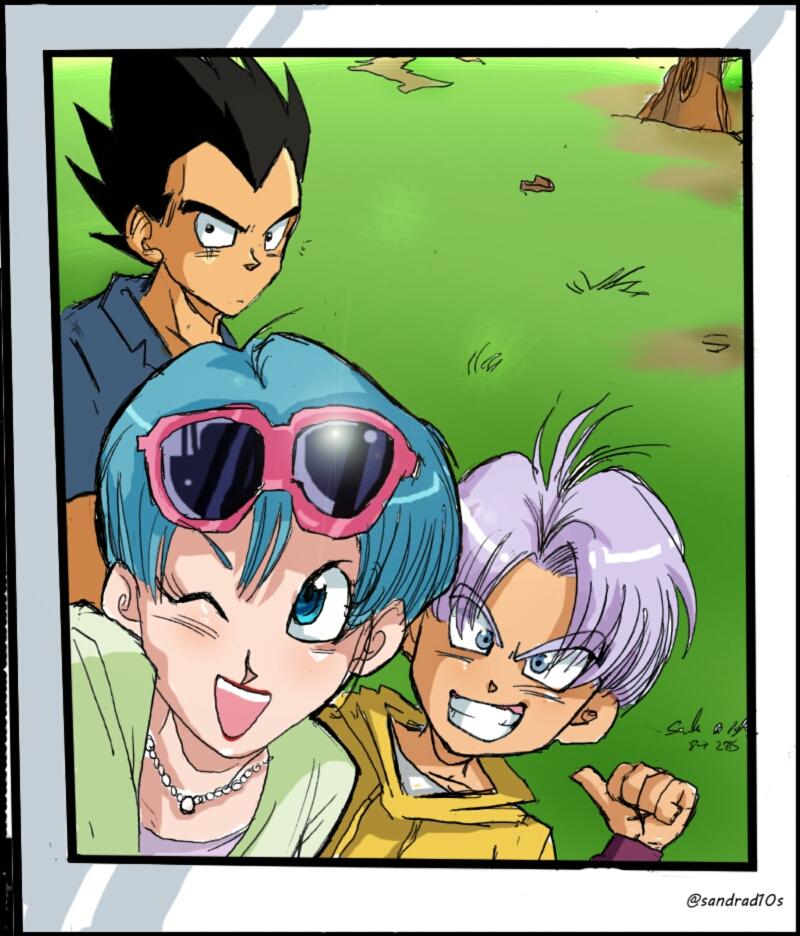 Selfie Dbs Vegeta Bulma Trunks Family