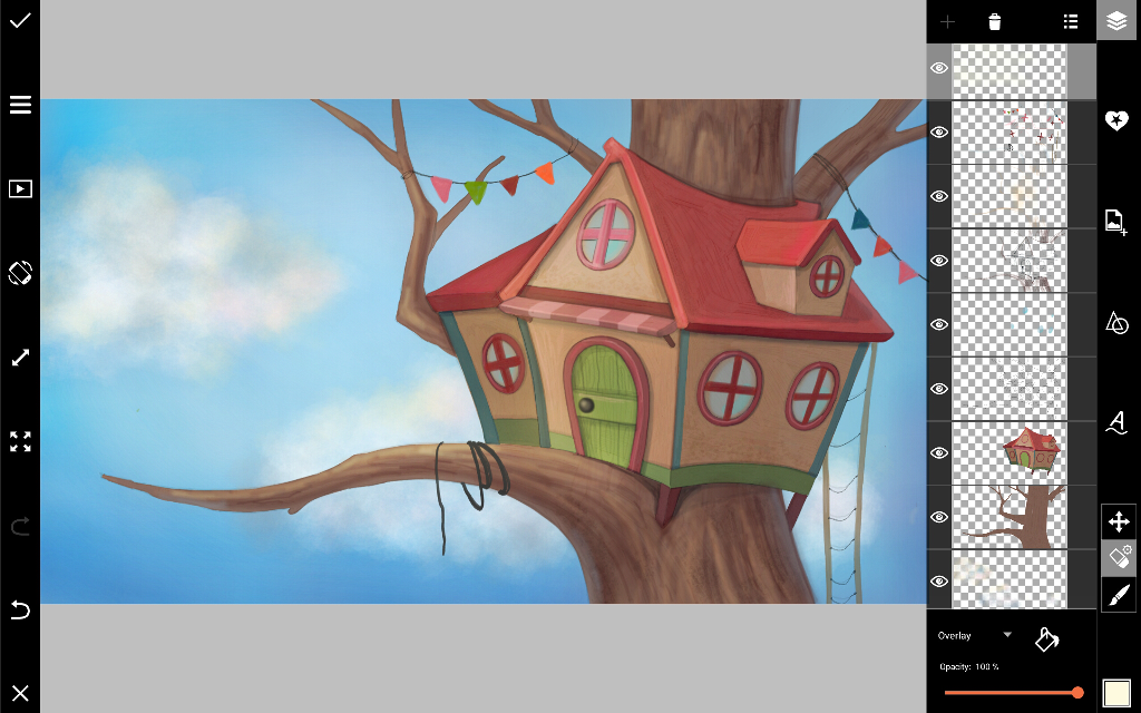 How to draw a treehouse with picsart create discover for How to make a treehouse step by step