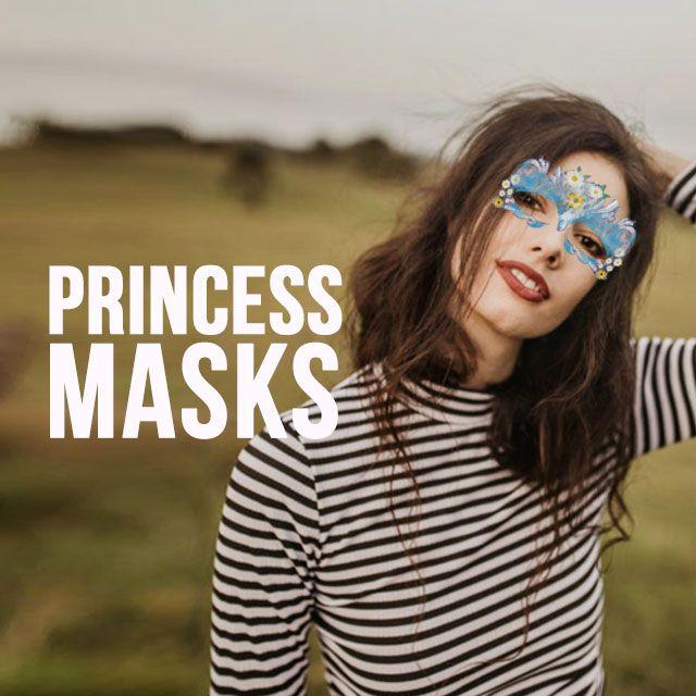 princess masks clip art