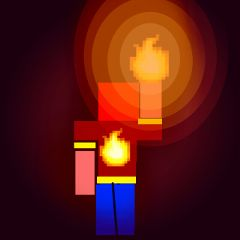 minecraft fire light night