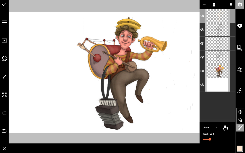 how to draw a street musician