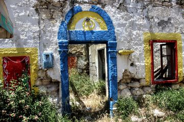 colorful fanes photography greek rhodos