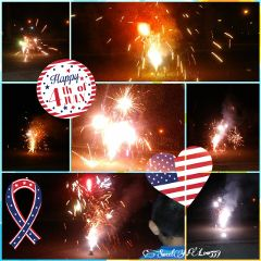happy4thofjuly fireworks colorful collage colorsplash