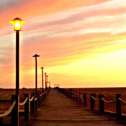 twilight lamppost merginglines photooftheday seaside