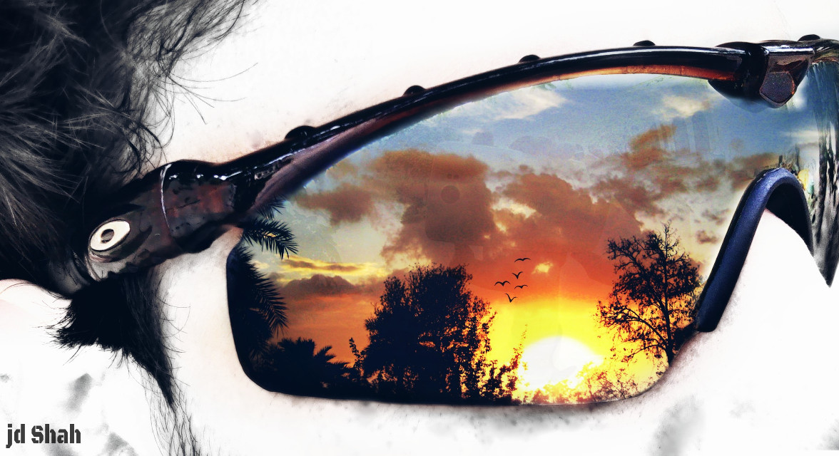 #Sunset #glasses #throughmyshades #horizon #artistic