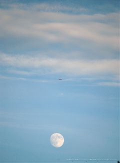 photography sky moon airplane fly madewithpicsart