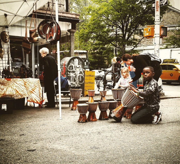Little Drummer Boy    #nyc  #mywork  #streetfair  #kids  #vintage  #summer  #native  #eastvillage  #doitforthekids