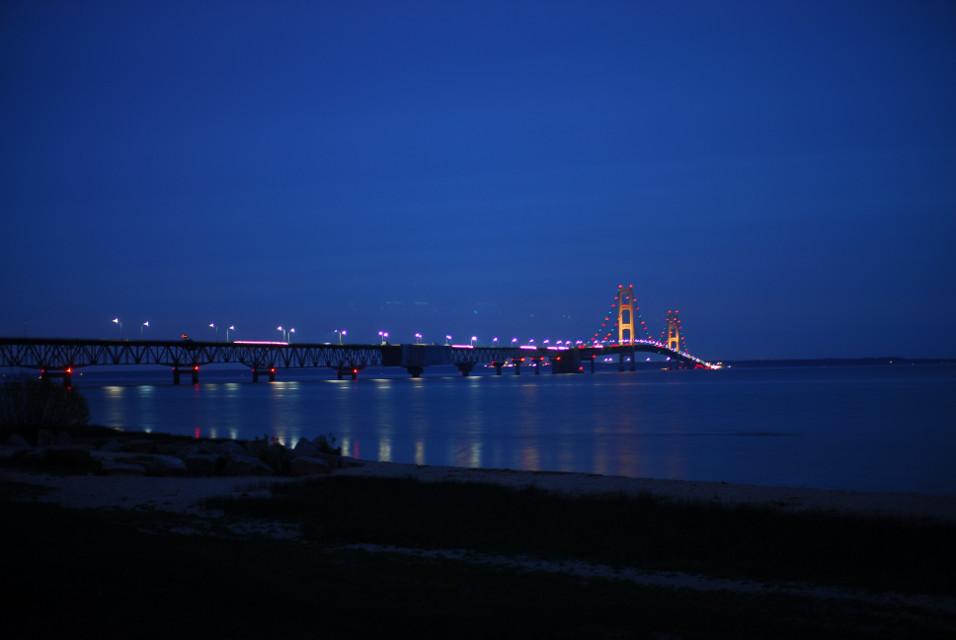 Mackinaw Bridge at night! #photography #mackinawbridge