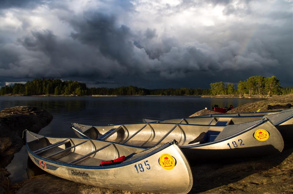 #sweden ott  #scandtrack  #morning  #haglofs #kanu  #lake  #rainbow  #water