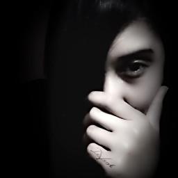me selfportrait emotion sad cry teardrop blackandwhite