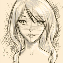 dcsketch sketch anime manga girl