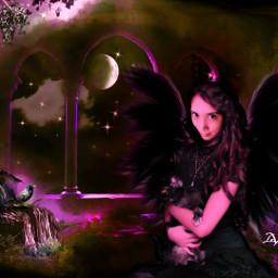myedit fantasyart princess angel pink edited curvestool picsarttools