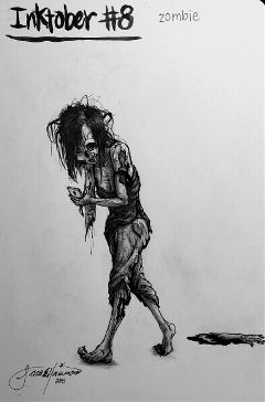 art artist artwork zombie inktober